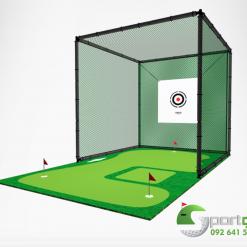 lưới và khung tập golf 3x3x3m inox - 3m Pracetice Net