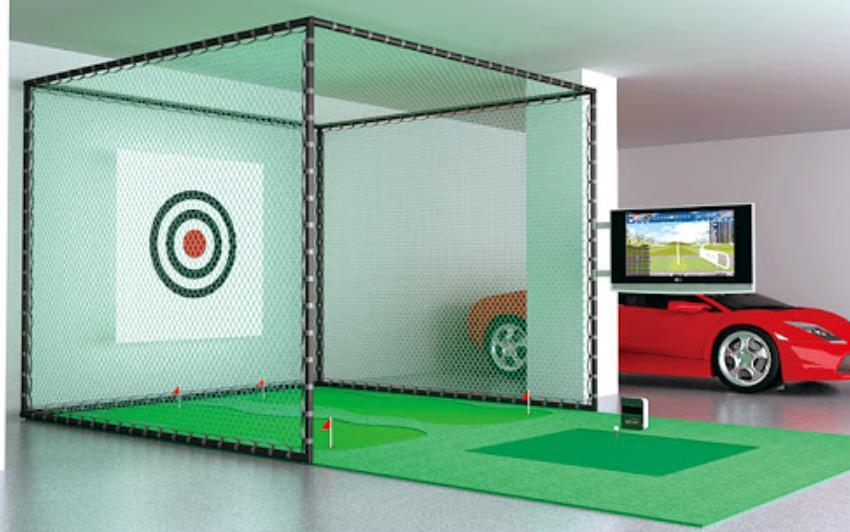 Nhà khung lưới tập golf
