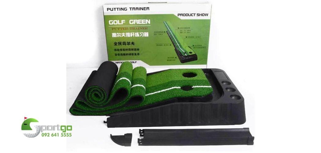 thảm putting golf nhựa đen trả bóng